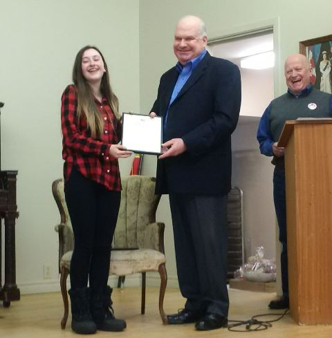 44th Annual Minesing Mini-fest youth of the year award Emily Irwin WEB