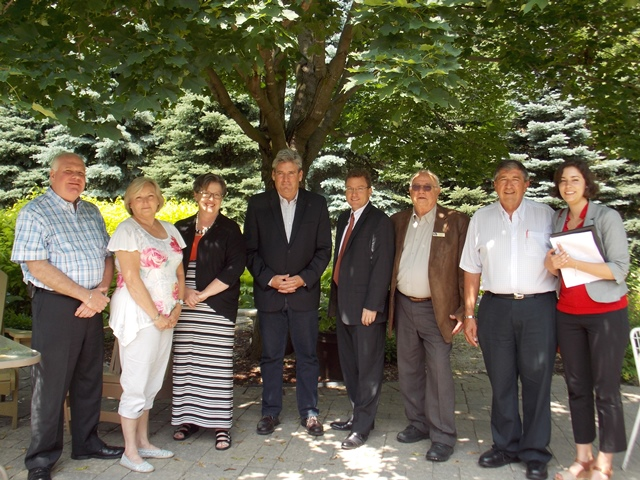 mpp john fraser tours Matthews House Hospice July 8 2015 WEBSITE