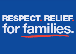 Respect.  Relief.  For Families