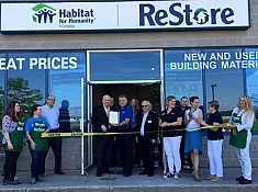 Jim attends Habitat Huronia Alliston ReStore's Grand Re-Opening
